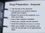 drug preparation ampoule