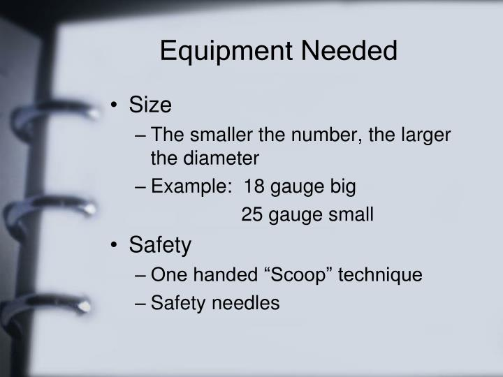 Equipment Needed