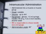 intramuscular administration