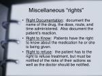 miscellaneous rights