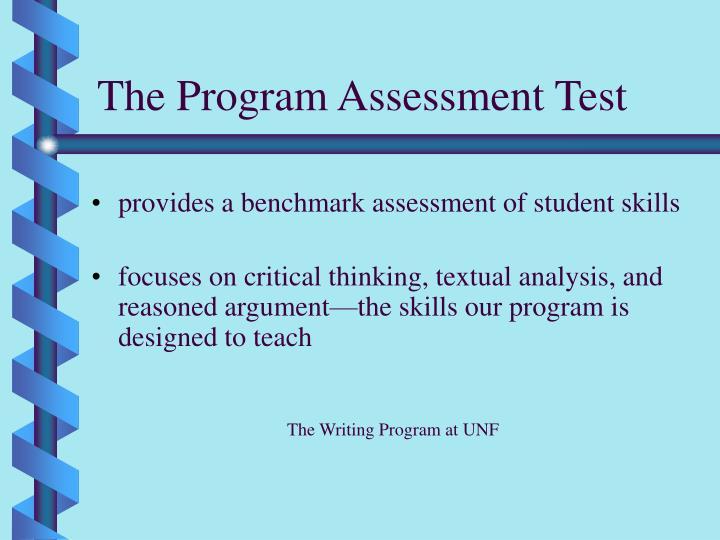 The Program Assessment Test