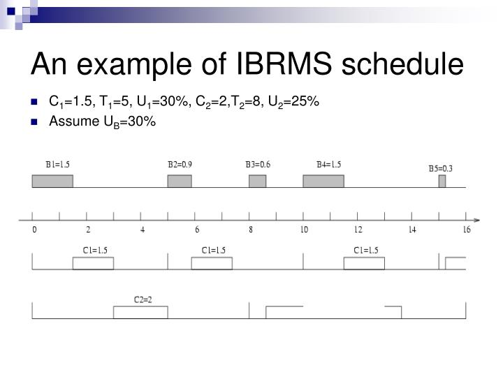 An example of IBRMS schedule