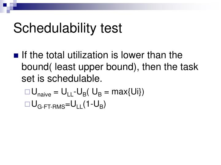 Schedulability test