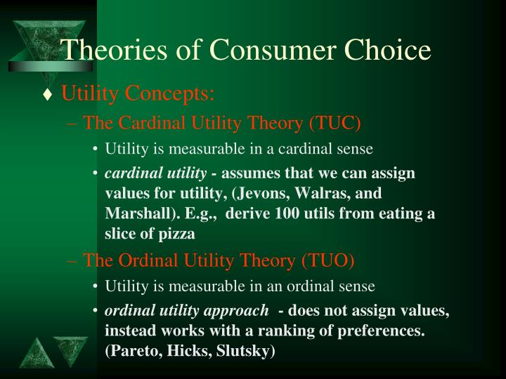 Theories of Consumer Choice