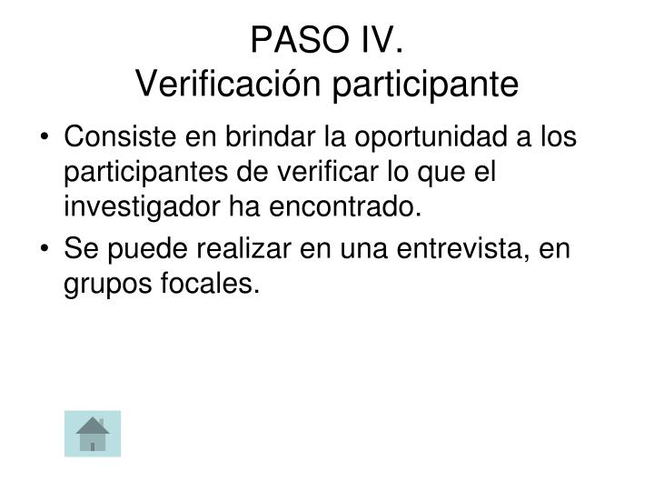 PASO IV.
