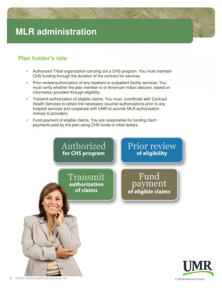 MLR administration