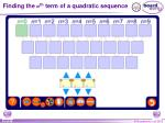 finding the n th term of a quadratic sequence
