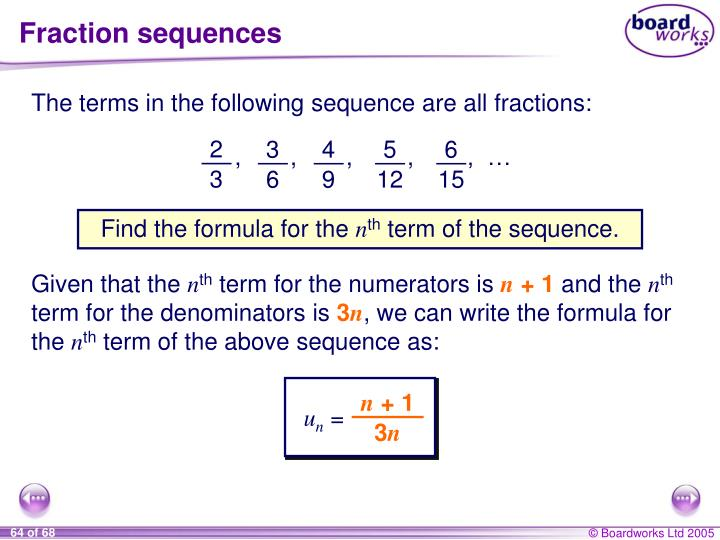 Fraction sequences