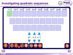 investigating quadratic sequences