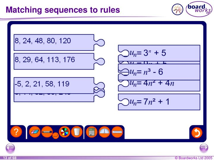 Matching sequences to rules