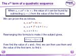 the n th term of a quadratic sequence3