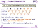 using a second row of differences