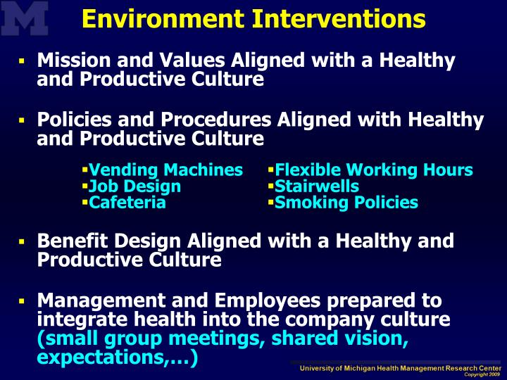 Mission and Values Aligned with a Healthy and Productive Culture