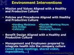 environment interventions