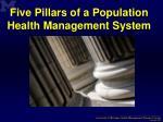 five pillars of a population health management system