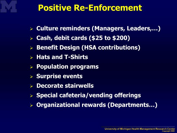 Culture reminders (Managers, Leaders,…)