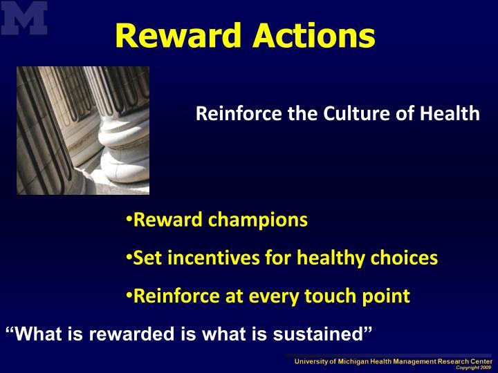 Reward Actions