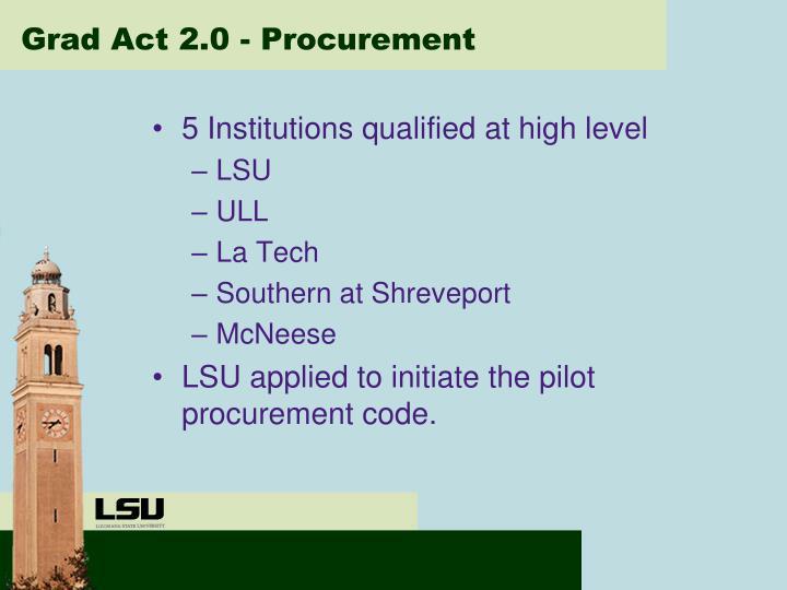 Grad Act 2.0 - Procurement