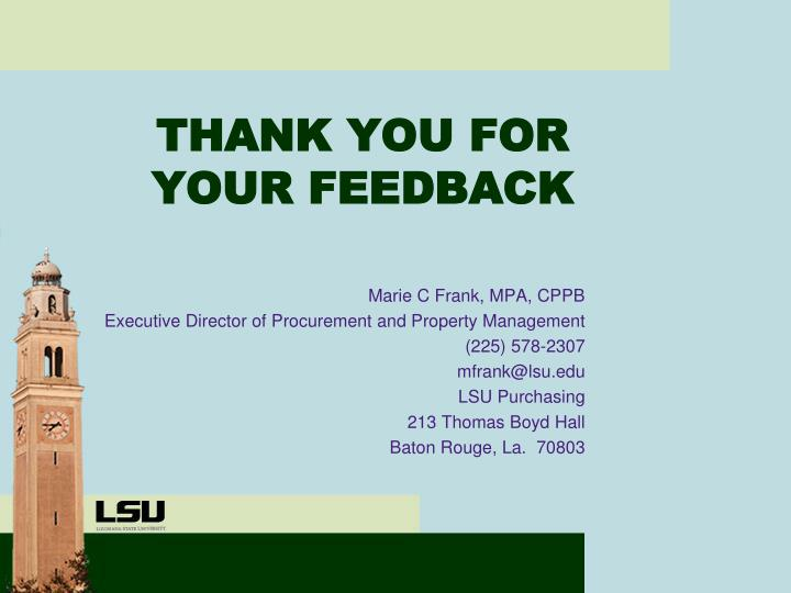 Marie C Frank, MPA, CPPB