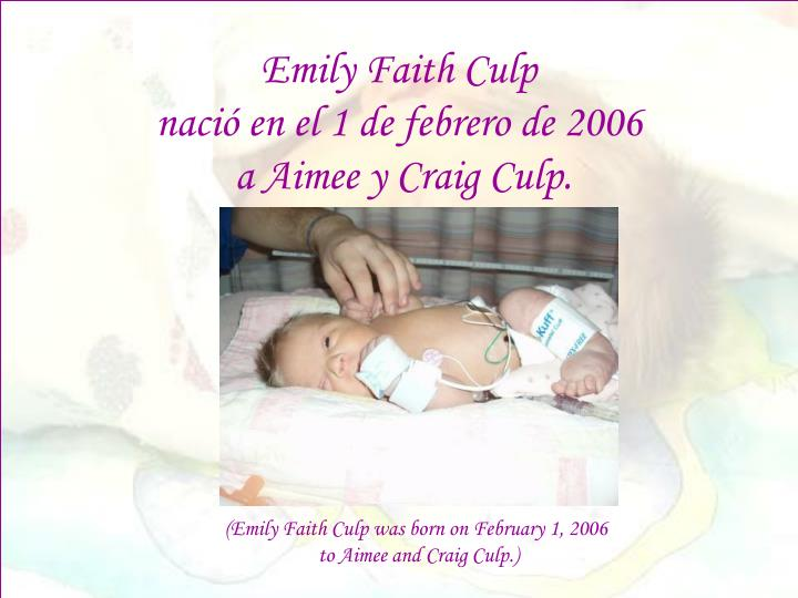 Emily Faith Culp