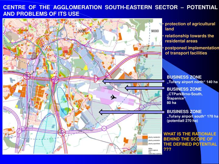 CENTRE OF THE AGGLOMERATION SOUTH-EASTERN SECTOR – POTENTIAL AND PROBLEMS OF ITS USE