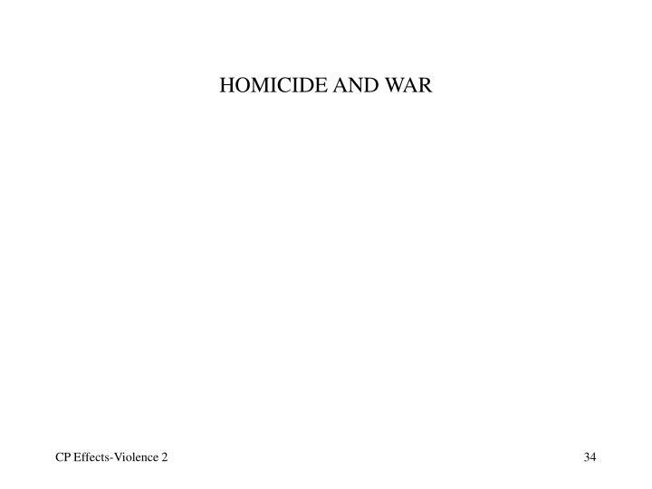 HOMICIDE AND WAR