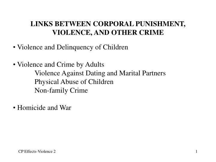 links between corporal punishment violence and other crime