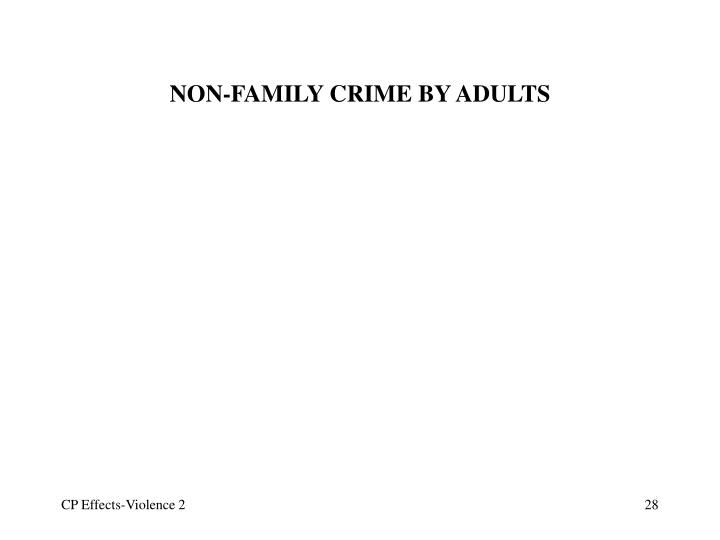 NON-FAMILY CRIME BY ADULTS