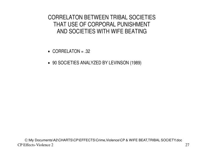 C:\My Documents\A2\CHARTS\CP\EFFECTS\Crime,Violence\CP & WIFE BEAT,TRIBAL SOCIETY.doc