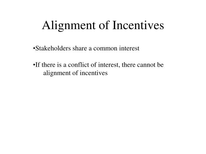 Alignment of Incentives