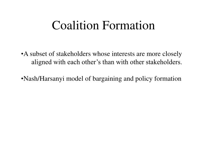 Coalition Formation