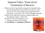 imperial valley nonevolved community of interests