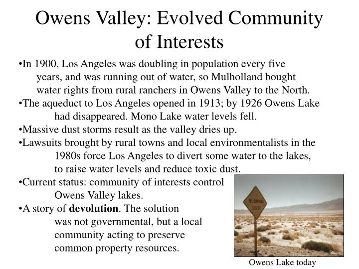Owens Valley: Evolved Community of Interests