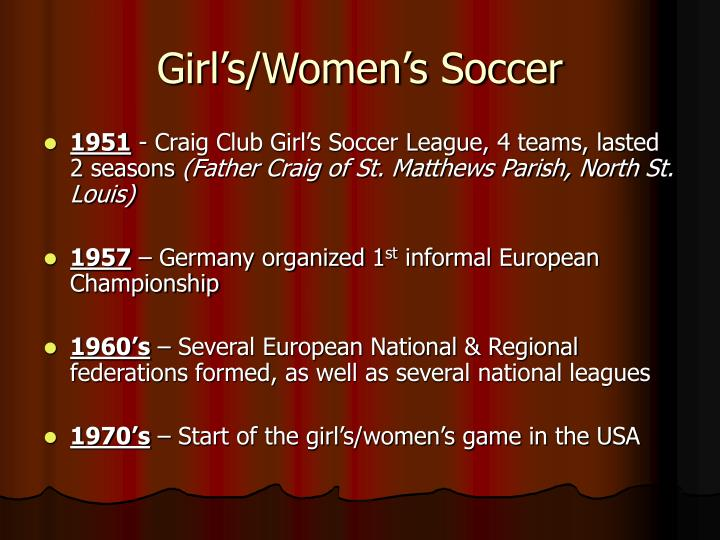 Girl's/Women's Soccer