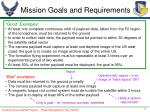 mission goals and requirements