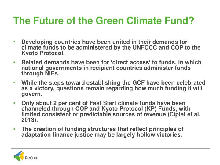 The Future of the Green Climate Fund?