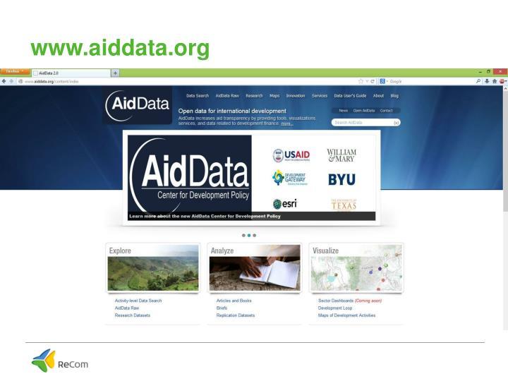 www.aiddata.org