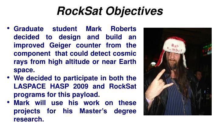 RockSat Objectives