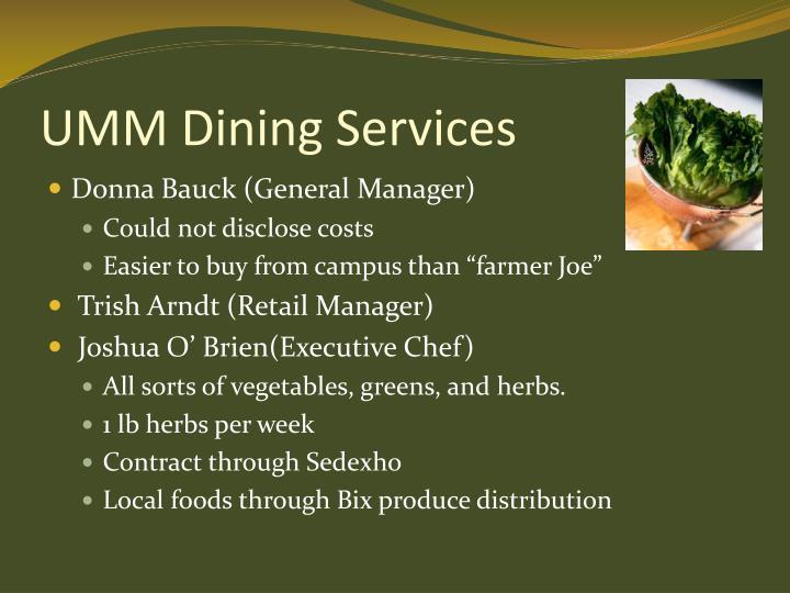 UMM Dining Services