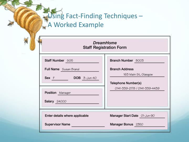 Using Fact-Finding Techniques –