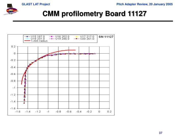 CMM profilometry Board 11127