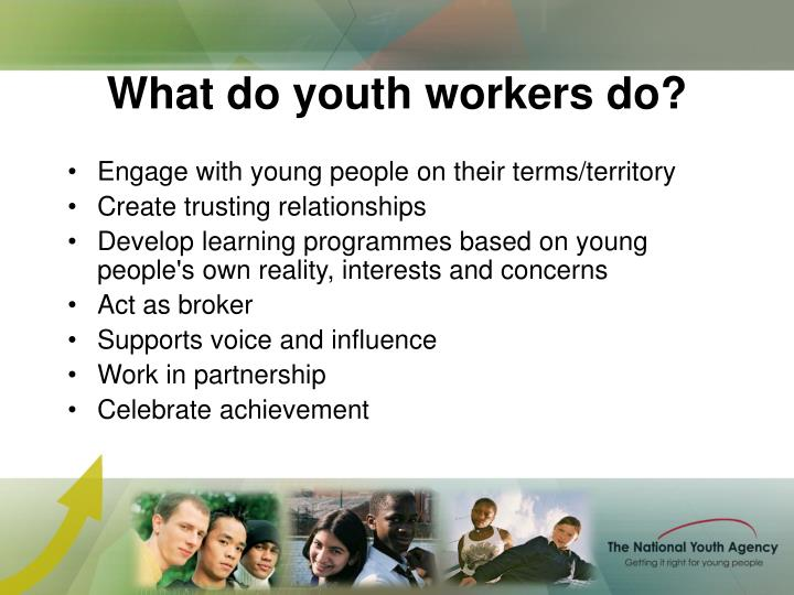 What do youth workers do?