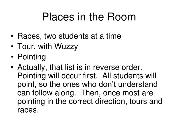Places in the Room