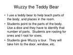 wuzzy the teddy bear