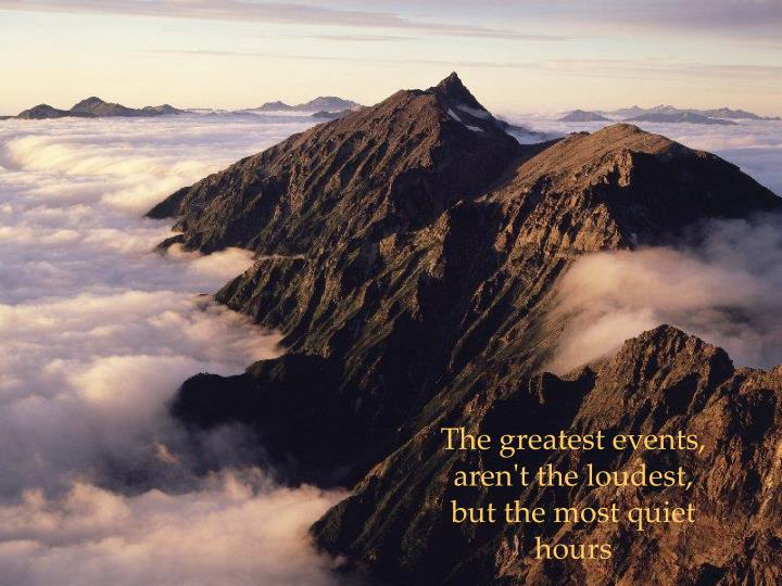 The greatest events,