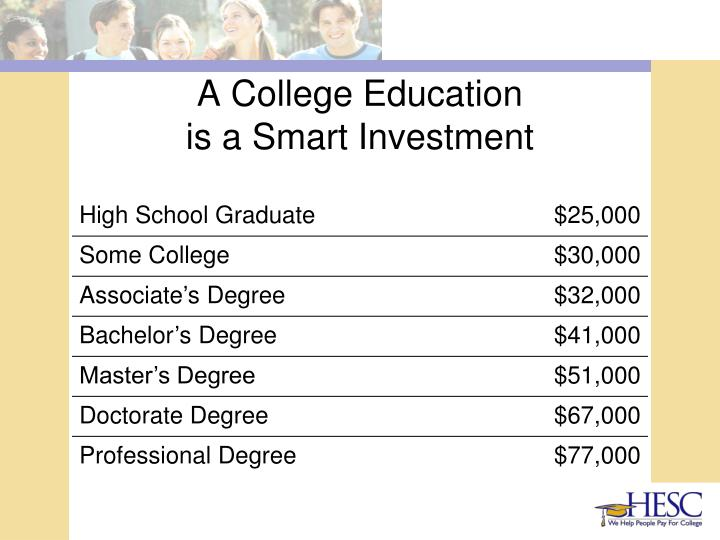 A college education is a smart investment