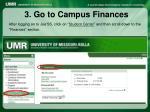 3 go to campus finances
