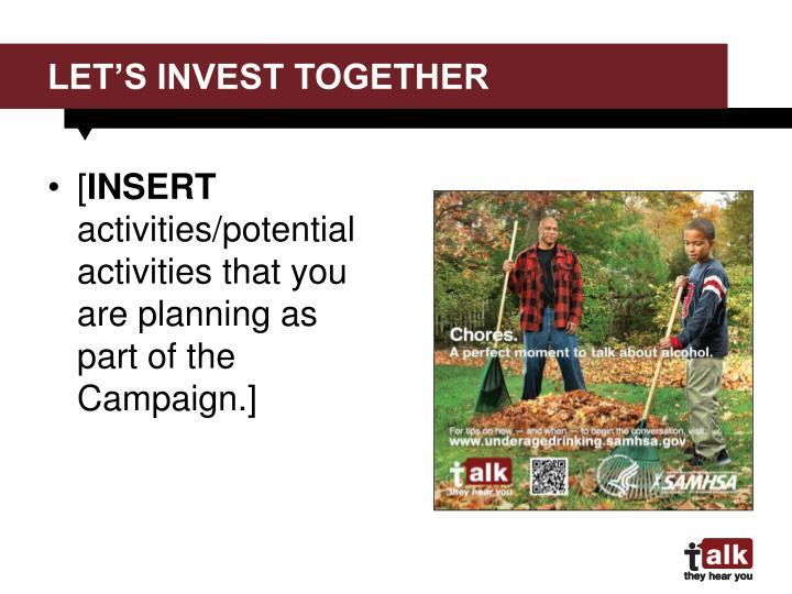 Let's invest together