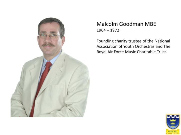 Malcolm Goodman MBE