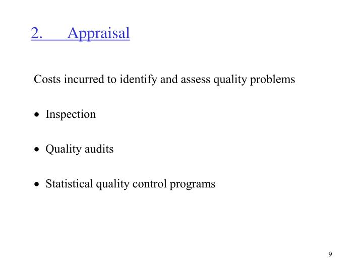 2.Appraisal